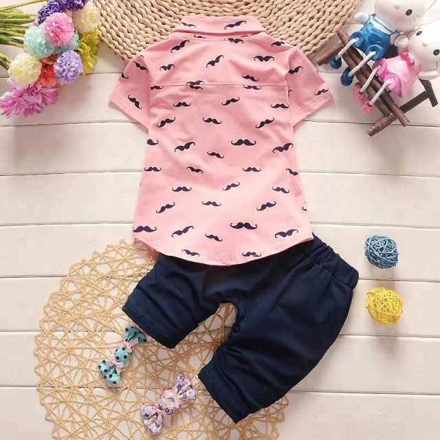 2018 high quality kids clothes 100% cotton baby boys clothing sets