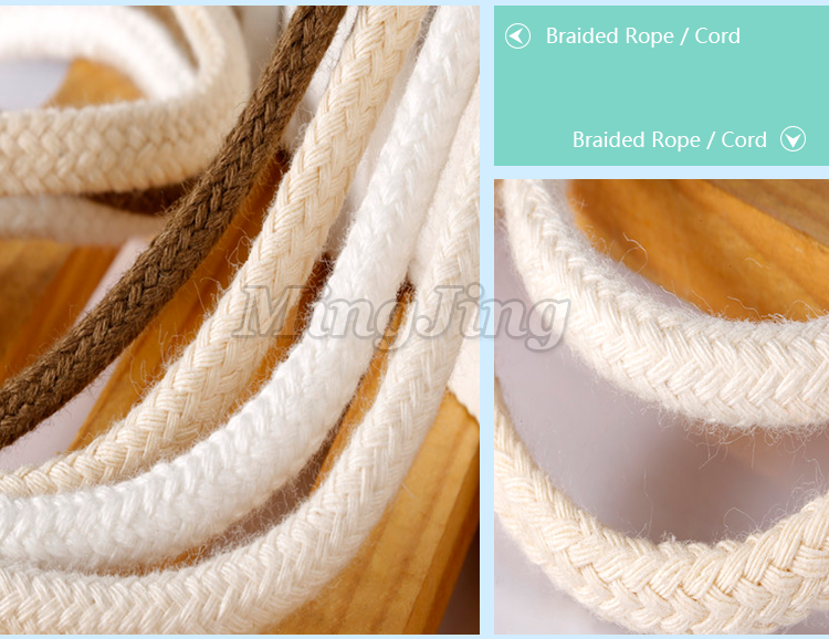 High Quality Factory Price Braided Twisted Cotton Cord