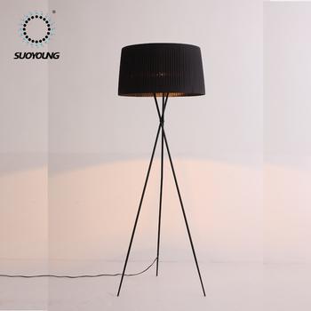 Decorative Fabric Lampshade Floor Standing Lighth1750mm Fancy Floor
