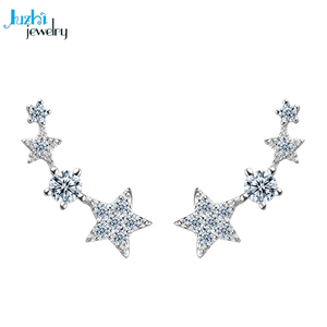Juzhi jewelry pure silver fashionable jewelry newest korean earring style design ear stud