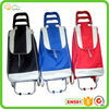 Steel hand trolley folding shopping bag on wheels