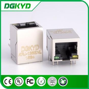 Krj-138enl Metal Shielded 8p8c Ethernet Jack Cat5 Rj45 Connector ...