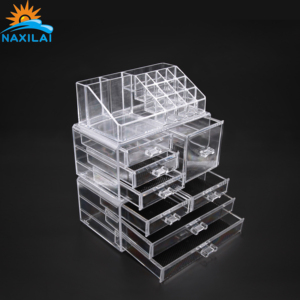NAXILAI Wholesale Clear 6 Sided Acrylic Cubes Box Acrylic Bins Cosmetic Box with Best Quality