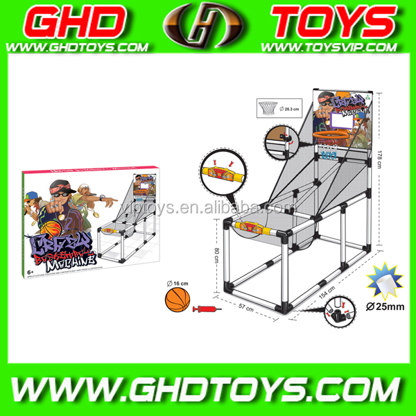 International standard sports equipment manual hydraulic basketball stand, can count score