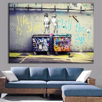 Banksy Graffiti Kunst Poster Wandkunst Leinwand Malerei Wandbilder ...