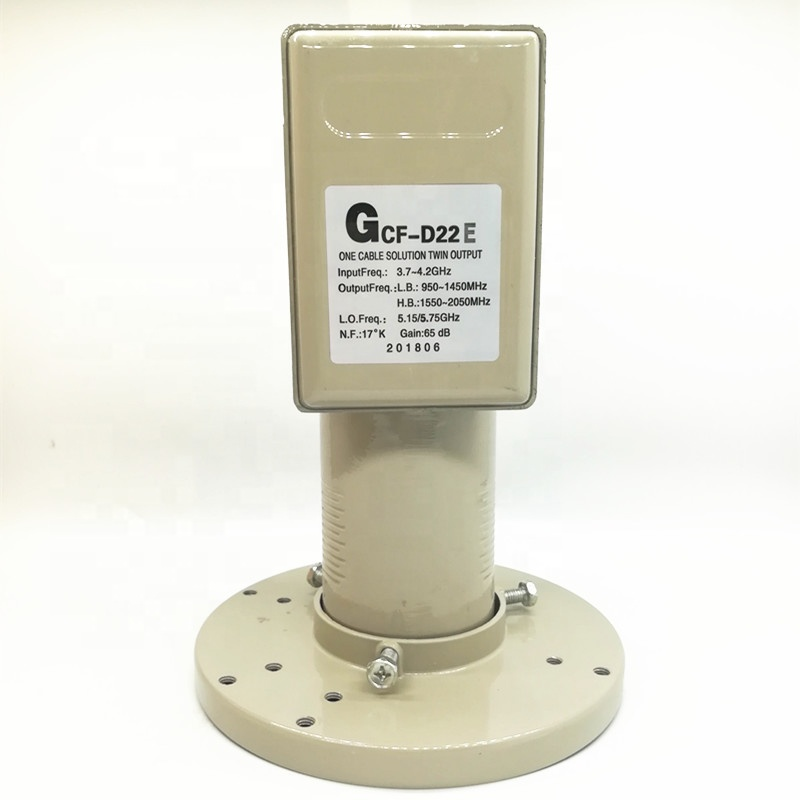 C band universal twin LNB 5150 5750MHz 5.15 5.75GHz dual polarized very strong signal for project