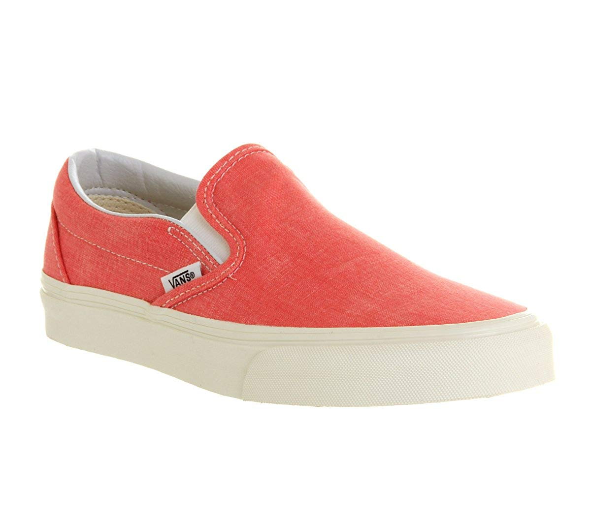 2ea75960f1 Get Quotations · Vans Unisex Classic Slip-On  (Washed) Hot Coral Men s 3.5