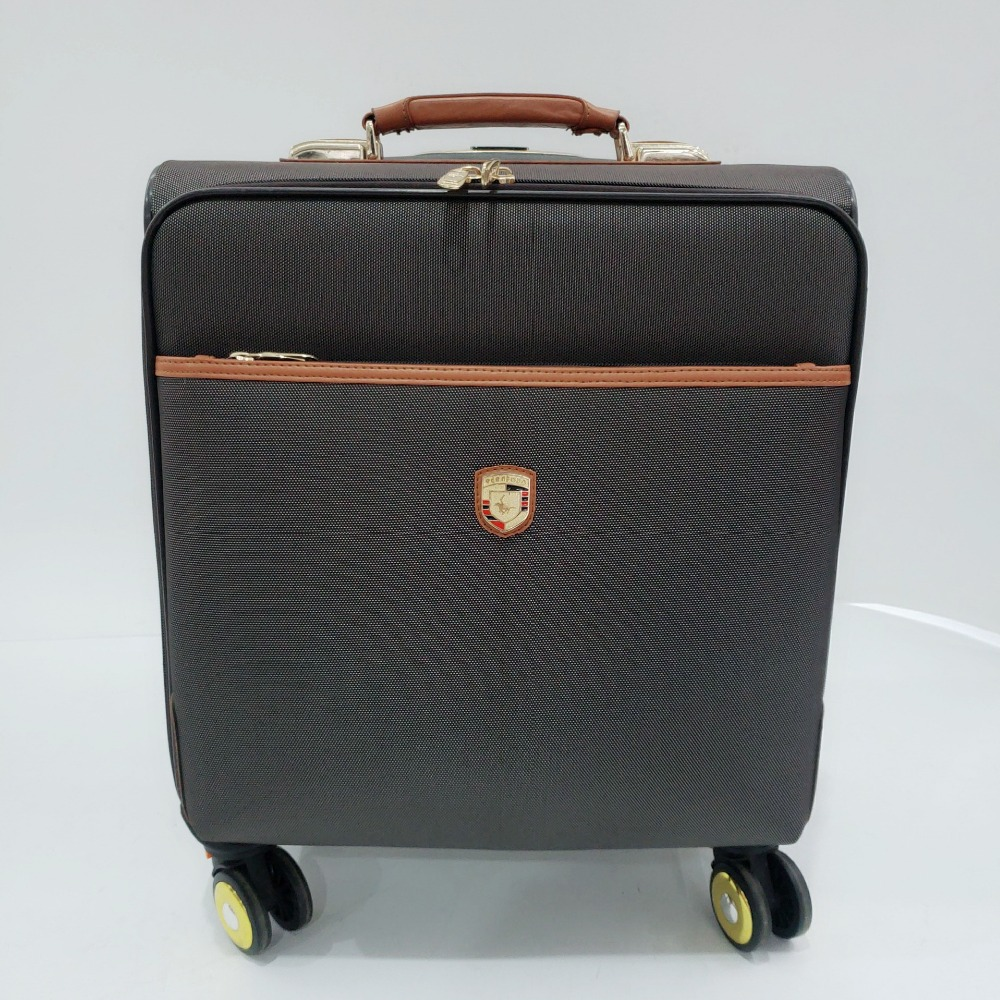 business pure leather airline boarding luggage