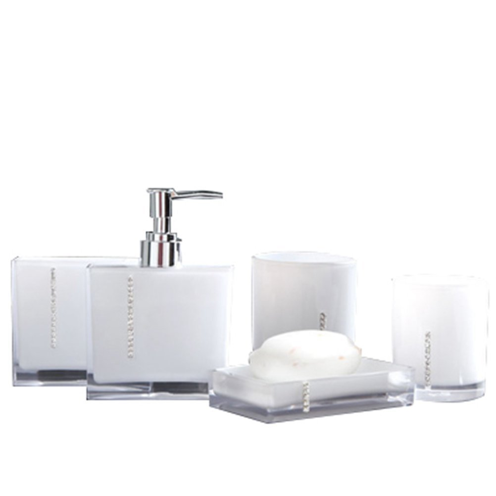Buy High Grade Acrylic 5 Pieces Bathroom Accessory With Diamante ...