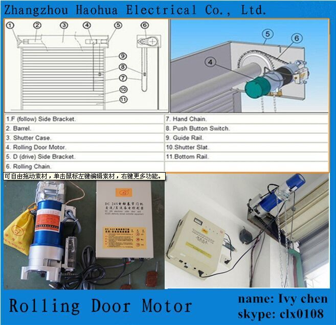 Side Motor Rolling Shutter Electric Door Closer Roller