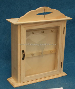 New Cross Unfinished Pine Wood Key Cabinet