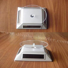 Solar power acrylic rotating solar display stand fpr phone