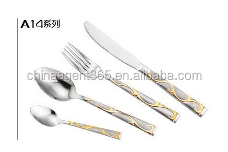 20'' carbon combined stainless steel spoon and fork