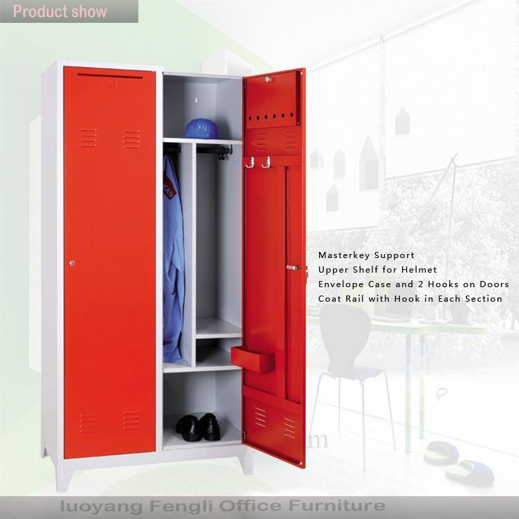 Red Color Single Door Cabinet Steel Strong Room Lockers Triveni