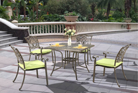 Cast Aluminium Metal Outdoor Patio Dining Garden Furniture Set