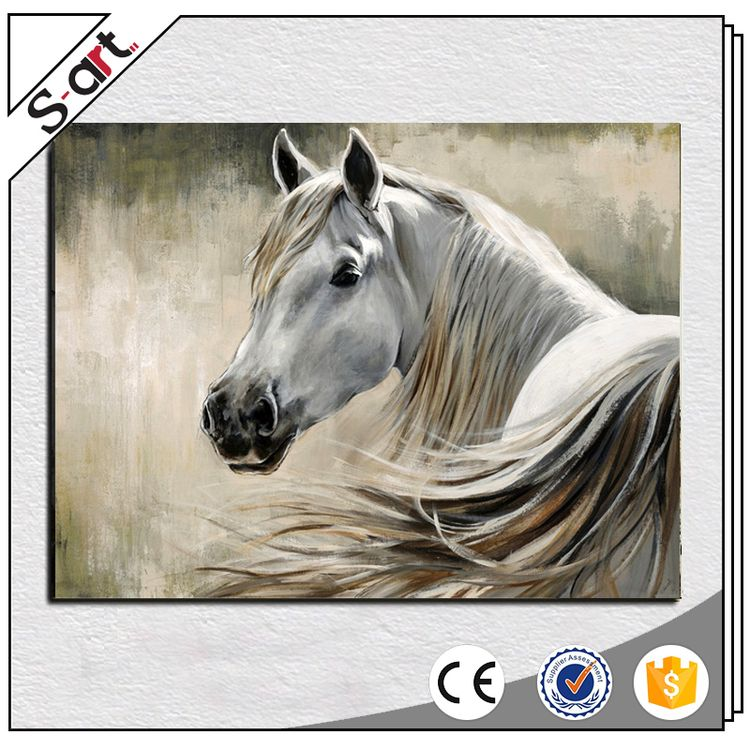 Romantic direct sale horses abstract oil painting
