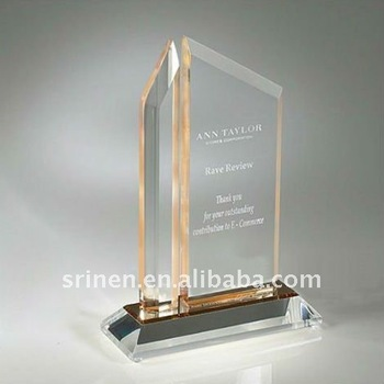 Elegant Design Clear Acrylic Trophy Stand For Promotional Sale