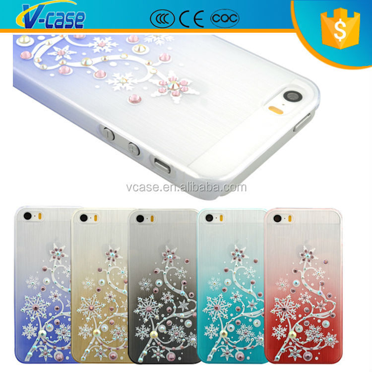 Beautiful Mobile Phone Diamond Flowers Decorate Cover Case For ...