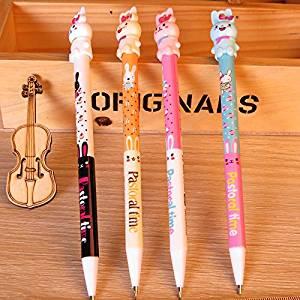 Set Of 8 Cute Novelty Kawaii Cartoon Animals 0.5 Refill Mechanical Pencils Bulk For Kids Office School (rabbit 1)