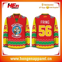 Hongen apparel Cheap Price Custom Embroidered logo Tackle Twill name and number ice hockey