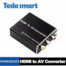 Factory Price HDMI to AV CVBS RCA Converter with Audio 1080P with Smart EDID