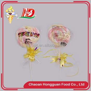 2016 Newest twist individual package colorful marshmallow fancy lollipop