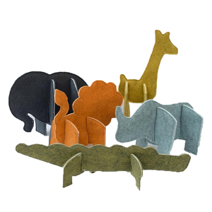 Custom felt 3D puzzle felt puzzle for kids with animal pattern
