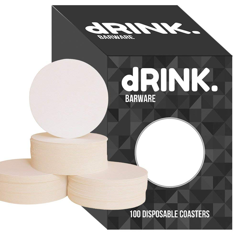 Zen Tiles Designs and Mini Art Board DIY Craft Projects ZEZAZU 4 Round Heavyweight Blank White Paper Pulpboard Absorbent Coasters Letterpress Paper Case of 50 for Drinks