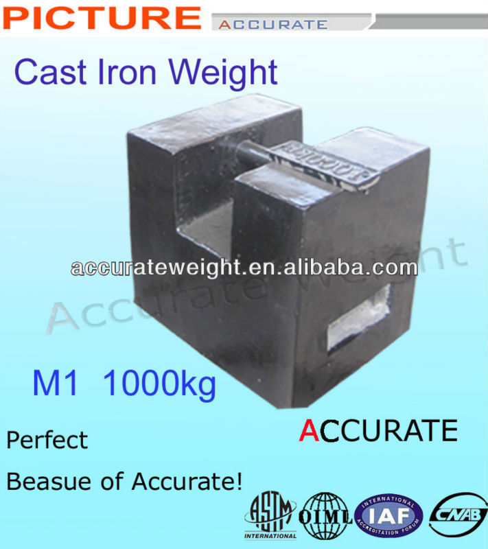 ACCURATE M1 class weight 500kg 1000kg test weight counter weight 500kg