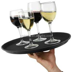 Popular plastic high quality serving rolling tray for Bar