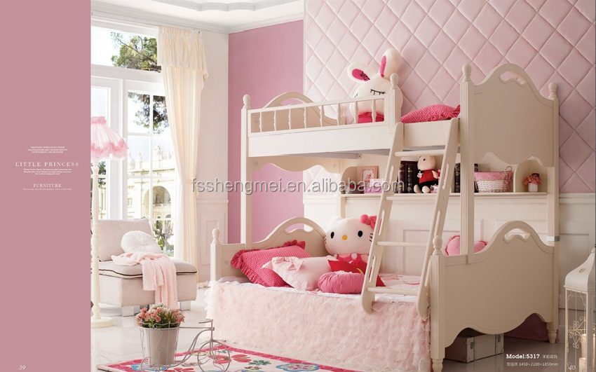 Russia Design White Kids Bedroom Sets Girls Bedroom Furniture Simple