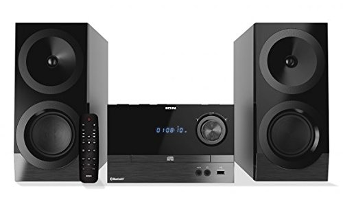ION Audio Compact Shelf System iAS01 | All-In-One Hi-Fi CD/FM Stereo System with Bluetooth (100W)
