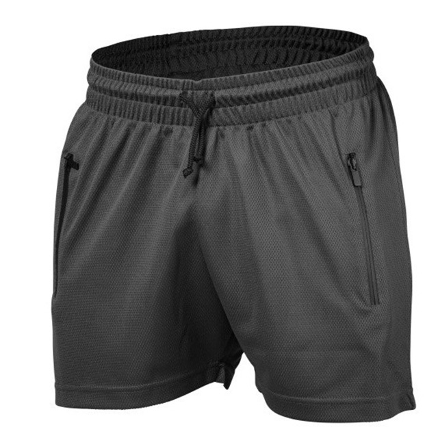 Wholesale 100% polyester quick dry for men's GYM sport blank shorts