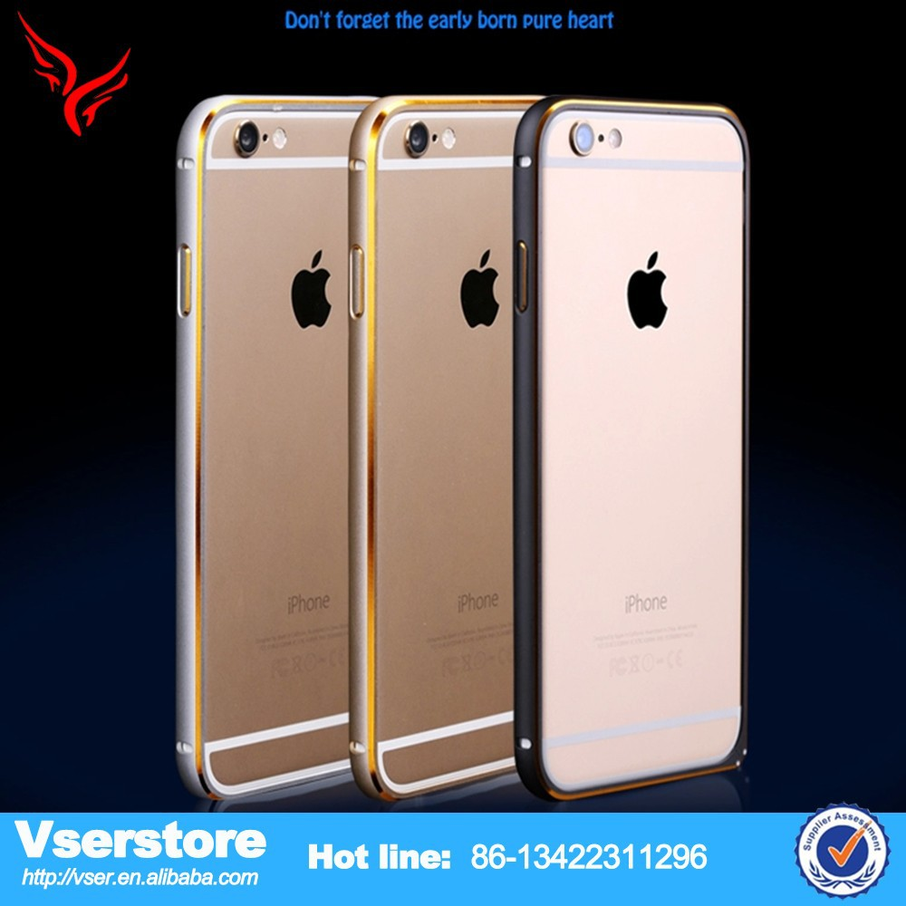 Mix 2 Color Alloy Hard Aluminium Metal Bumper Frame Case Cover For iPhone 6 Plus
