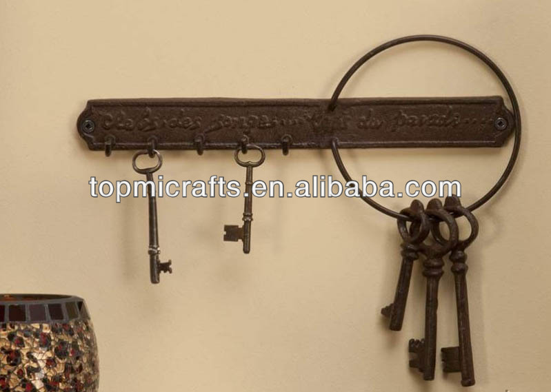 Cast Iron Key Hook Holder Shabby Western Vintage Wall Decor Accent - Buy Key  Hook,Westen Wall Decor Accent,Cast Iron Key Product on Alibaba.com