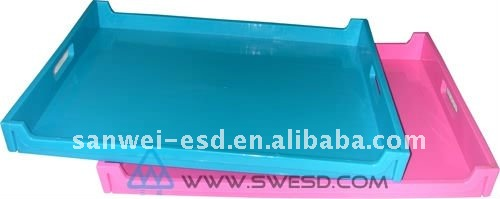esd/anti-static plastic tray