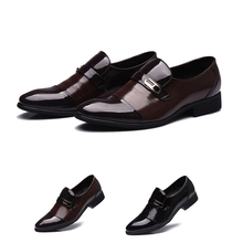 Mens Wedding Leather Shoes Male Solid Lace-up Pointed Toe WaterProof Fashion Soft Summer Breathable Business Shoes For Mens