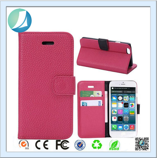 Wholesale Custom PU Leather Flip Case Cover for iPhone 6