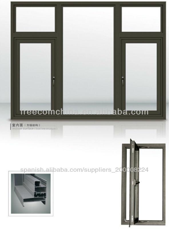 China de 2013 de aluminio abatible marco de la ventana con for Marcos de ventanas de aluminio