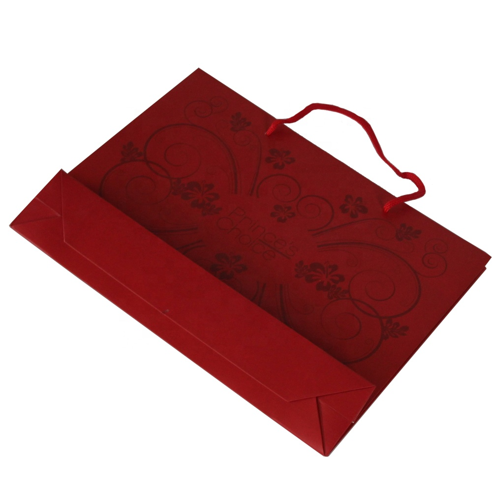 Customized Paper Recyclable Packaging Bags With Logo Print
