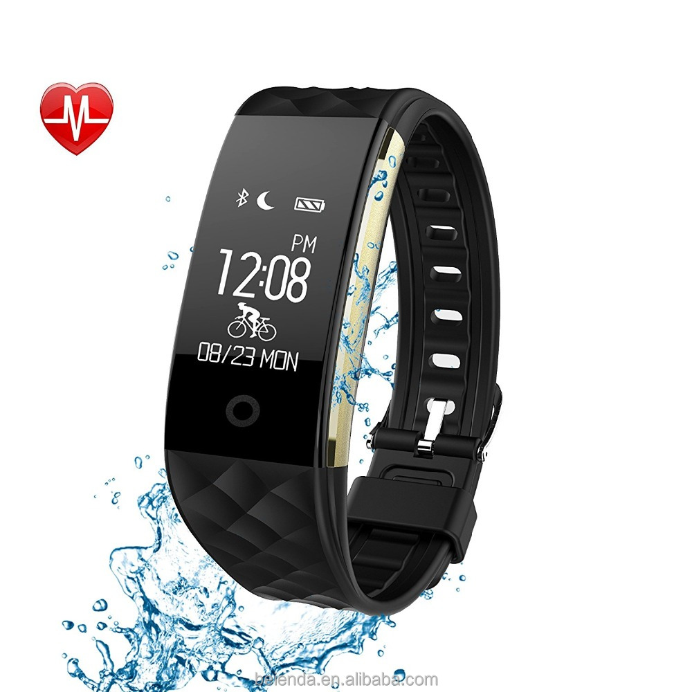 Fitness Tracker - IPX7 Waterproof OLED Touch Screen - And equipped with 3-color Watch Bands, free to change the color