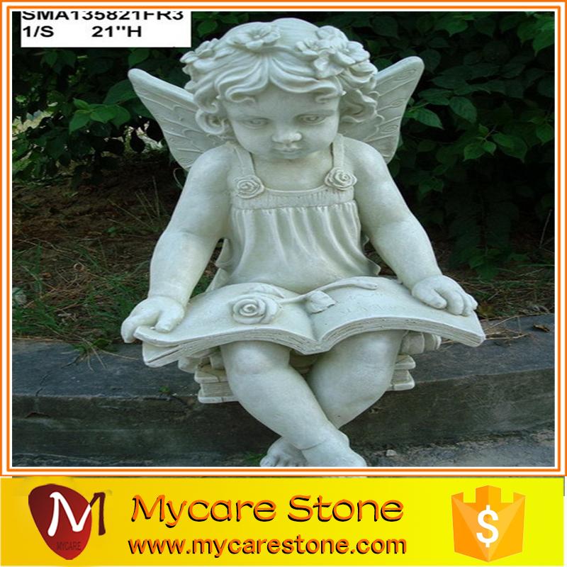 Wholesale Little Girl Garden Statue, Little Angel Garden Sculpture