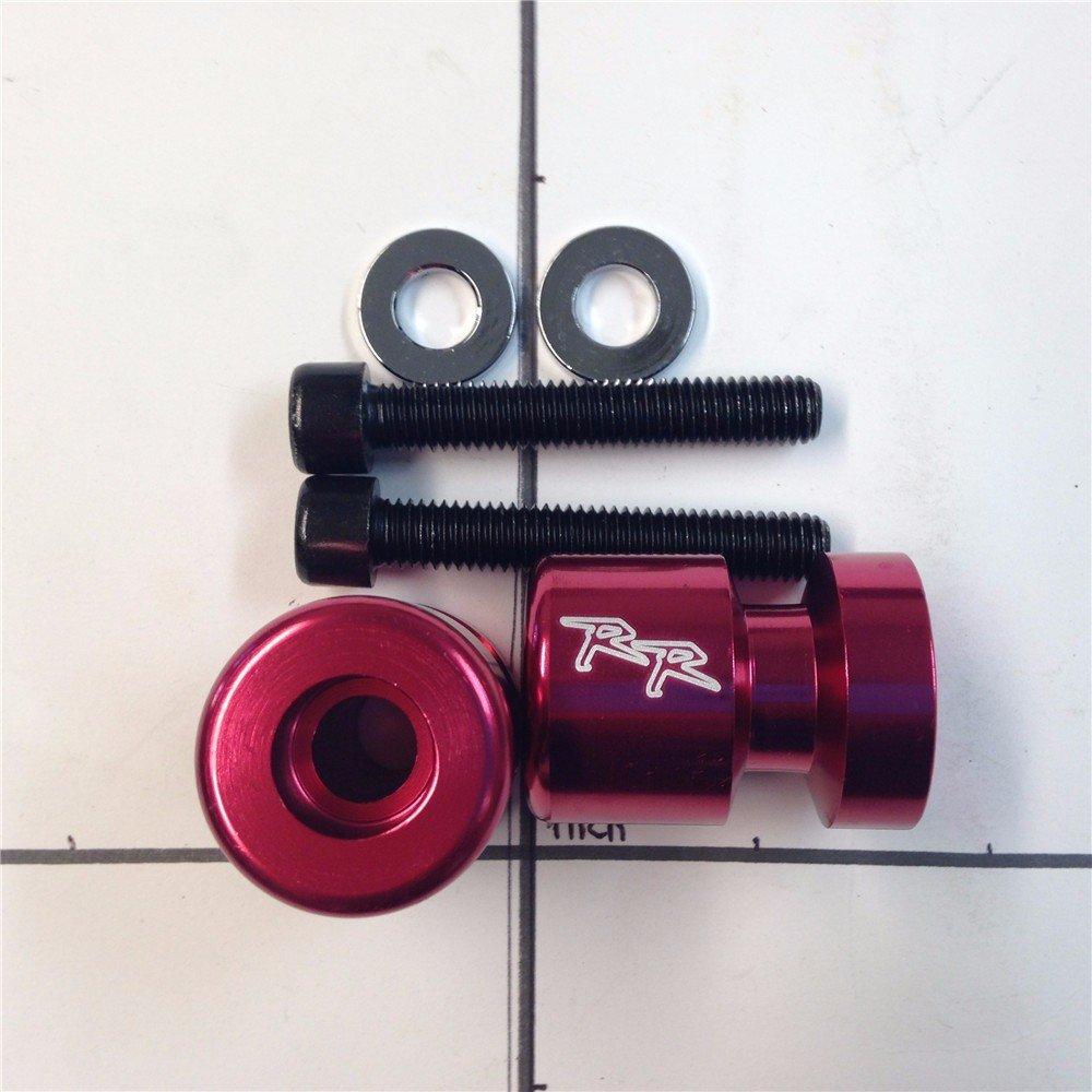 "XKMT GROUP Swingarm Spools Sliders Red ""RR"" Engraved Logo Honda CBR 1000RR600RR Suzuki GSX 1300R/GSX-R 1000/GSX-R 1100/GSX-R 600/GSX-R 750/Ducati/KAWASAKI ZX1000 NINJA ZX-10R"