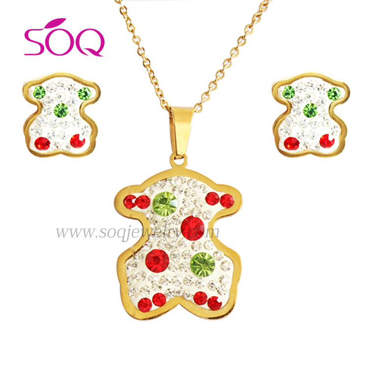 2016 Alibaba Stainless Steel 18k Gold Plated With Bear Jewelry ...