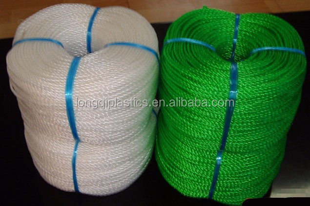 3 Strands 1MM-3MM PP/ Polyethylene/ Nylon/ Polyester ropes/ twine and Braided Rope