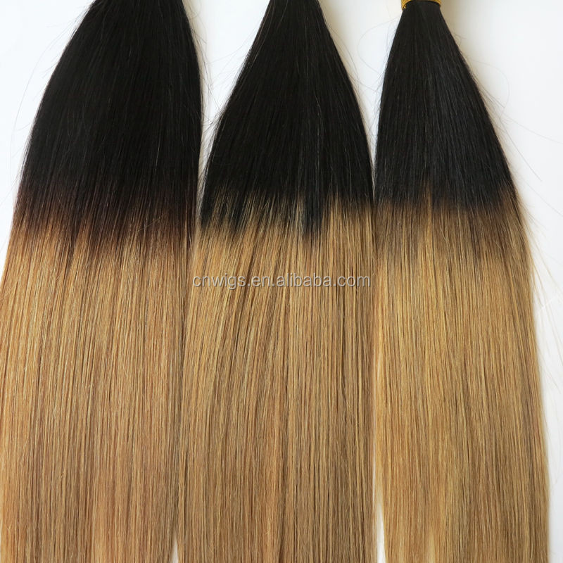 Cheap Straight Hair Weave 8 30 3pcslot Two Tone Ombre Remy Hair