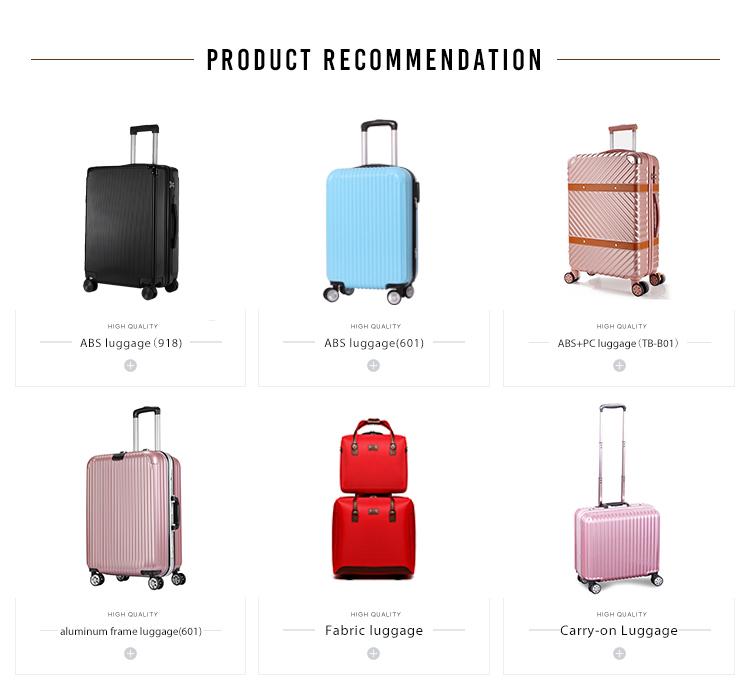 Fermeture éclair conception cool en plein air voyage sac de chariot à ABS voyage bagages
