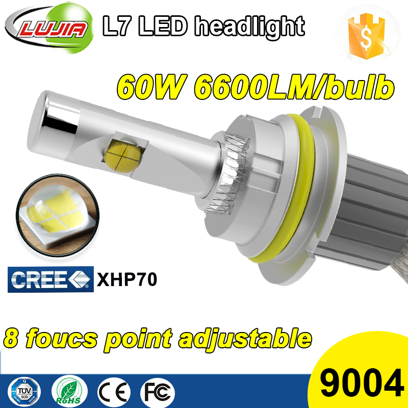 New Arrivel Crees xhp70 6600lm 9004 Car Led headlight Bulbs 9004 HB1 P29T(8) Conversion Kit For automobiles & motorcycles 60w