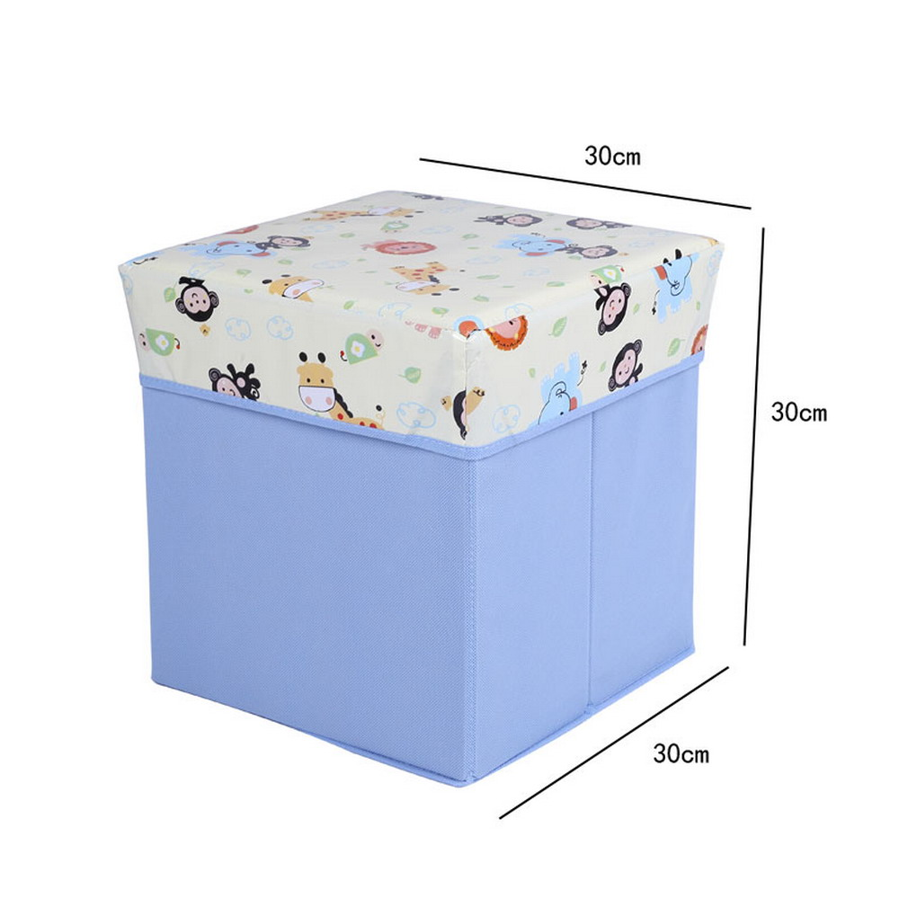Folding Storage Ottoman Foot Rest Stool Seat 11.8in for kids