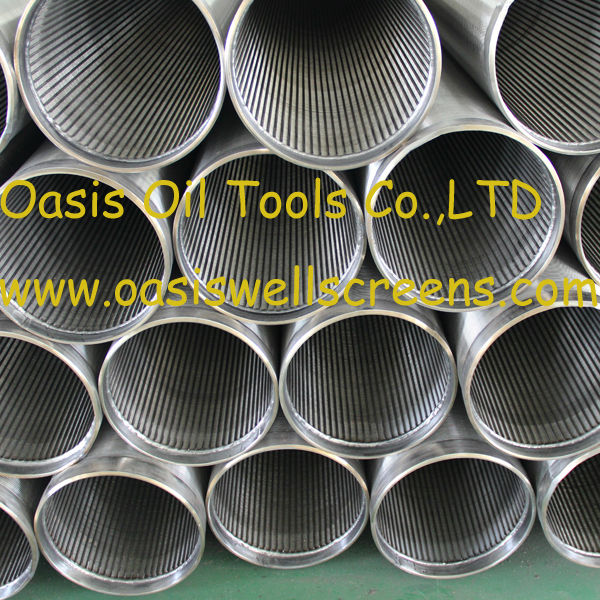 v shaped wire all-welded stainless steel Johnson well screen pipe